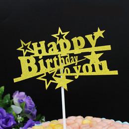 1 pc diy ouro estrela roxa carta feliz aniversário bolo de sorvete cupcake toppers picks menino menina crianças festa de aniversário sobremesa decoração supplier purple ice cream de Fornecedores de sorvete roxo