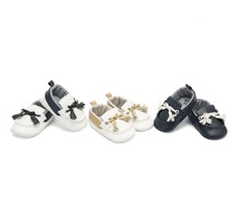 Baskets bébé filles infantiles gland lacets à lacets Arcs premiers marcheurs mode enfant en bas âge polka dots antidérapantes confortables chaussures de sport garçons chaussures F3236 ? partir de fabricateur