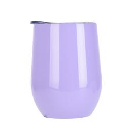 Personalizar tazas de café online-personalizado 12 oz vaso de vino de acero inoxidable con aislamiento del vaso de café sin tallo copa de vino para la boda regalo de Navidad