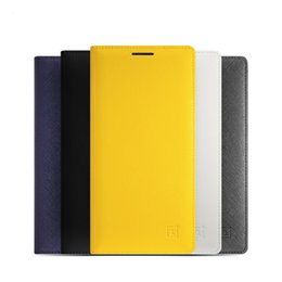 Caso oneplus one flip on-line-Smart flip case capa de couro para oneplus dois sleep / wake up case para one plus 2 OnePlus 2 casos de telefone + protetores de tela