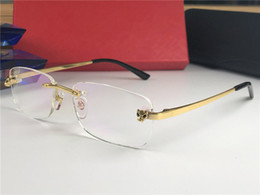 2019 титановые дизайнерские очки Роскошный дизайнер оптические очки CT0039SA классическая мода бескаркасных очки блестящий золотой титановый кадр бизнес стиль очки высокое качество дешево титановые дизайнерские очки