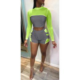2019 vestito di notte per l'estate Abbigliamento sportivo da donna riflettente estivo da donna sexy con maniche corte girocollo a manica lunga vestito di notte per l'estate economici