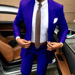 Canada 2019 Les dernières conceptions de pantalons pour hommes marron conviennent à Slim Fit des smokings élégants Une robe de soirée business pour mariage Veste d'été + un pantalon terno Offre
