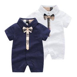 The Newest Plaid Baby Luxury Designer Jumpsuits Bag G Impreso Ropa de Recién Nacido Niños Pequeños Mamelucos Moda Niños Long Sleeeve Rompers desde fabricantes