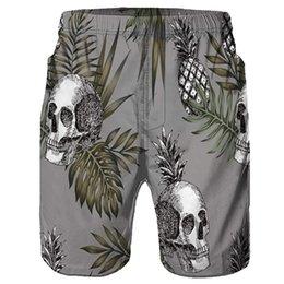 040e9451f0 men short pants skulls NZ - Skull Print Shorts Men Streetwear Mens Shorts  Casual Pants Fitness