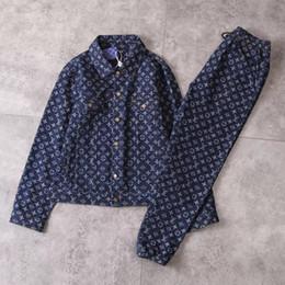2019 felpe con denim Nuovi giacche di jeans Giacche di marca per uomo e donna Giacche di jeans di alta qualità Migliore versione Giacca + Pantaloni Felpa da uomo sconti felpe con denim