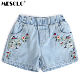 efc0803de9 good quality 2019 Kids Shorts Kids Embroidered Flowers Fashion Denim Shorts  Girls Clothes Wild Style Summer Promotions