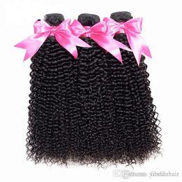 pacotes curly rainha cabelo extensões Desconto Sorte Rainha Mongol Kinky Curly Hair Extension 100% Feixes de Cabelo Humano Não Transformados Virgem Do Cabelo Tece 3 Pacotes Natureza Cor