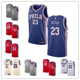 8b2d6e6b4 Philadelphia 23 Jimmy 76ers Butler Jersey New joel 21 embiid Ben 25 Simmons  Swingman basketball Jerseys Icon Edition Mens suit butler on sale