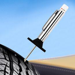 alldata reparar software instalado laptop Desconto Automobiles Motorcycles Tire Pattern Depth Ruler 25 milímetros do pneu Profundidade Medidor Padrão Régua Tread Mark Tread Pen Car carro ferramentas de ferramentas de medição