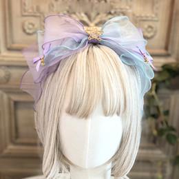 японские наголовники Скидка Handwork Daily Fairy Japanese Girls KC Headband Sweet Lolita Female Nice Lace Bow Headwear Cosplay Hair band Hairpin Accessories