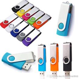 7 color Flash Memory Stick Pen Drive Unidad U Disco giratorio clave 64 GB 32 GB 16 GB 8 GB 4 GB USB 2.0 Envío gratis desde fabricantes