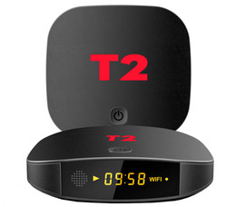 Núcleo t2 online-1pcs T2 2GB / 16GB 1GB / 8GB, RK3229 Cajas de TV de Android 7.1 Quad-core de 4K 1080P, miles de películas de TV que se actualizan diariamente