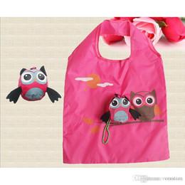 Doni gufi online-Sacchetto di spalla portatile pieghevole di viaggio di Eco del sacchetto del sacchetto della spesa pieghevole animale amichevole ecologico delle signore del regalo di signore