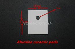 Argentina fregadero mate (20pcs / lot) 20x25x1mm Alumina almohadillas de cerámica lámina de aislamiento conductor térmico alta temperatura del disipador de calor resistente a-247 Suministro