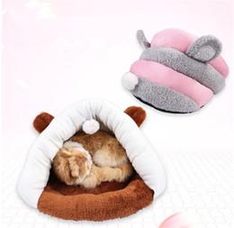 Luxus-hundehäuser online-Pet Kennel Dog Housewarm geschlossener Hundehütte Hundehausmatte Pet Product Luxury Bed 151218-17