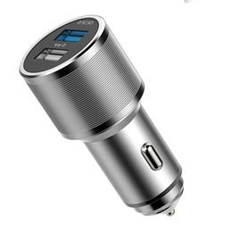 Canada Nouveau Rapide Chargeur De Voiture En Alliage D'aluminium QC3.0 Chargeur Rapide Chargeur De Téléphone Portable Double Usb Chargeur De Téléphone De Voiture Pour Iphone XR XS Samsung S9 Huawei Offre