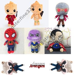 raccoons toys Coupons - Sutffed Doll Guardians of the Galaxy Marvel Plush Toys Kids Toys 22cm Star-Lord Groot Rocket Raccoon The Avengers Soft Sutffed Gifts
