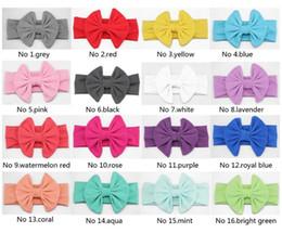 Ingrosso Accessori per capelli per bambini Tutta la fascia di cotone Messy Bow Headwrap Sweet Headwear 16 colori disponibili spedizione gratuita da
