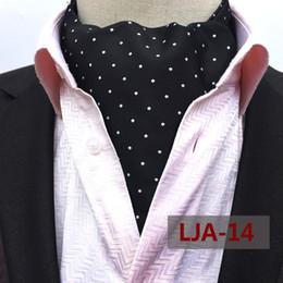 Mode Noir Bleu Rouge À Pois Hommes Soie Longue Cravate Ascot Cravates Gentlemen Men Paisley Cravat Ascot Cravates ? partir de fabricateur
