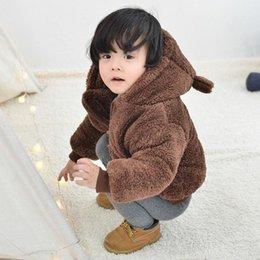Зимняя куртка с капюшоном для новорожденных Зимнее детское пальто Теплые девочки Детская шуба для детей Зимняя верхняя одежда 6-24 месяца от