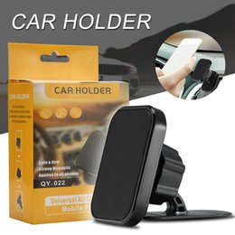 gps air mount Promotion Support magnétique de téléphone de voiture de vent de bâti de voiture pour le support de bâti de voiture de tableau de bord de GPS GPS avec la boîte au détail