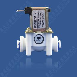 solenóide plástico de água Desconto Água Válvulas DC12V DC24V Plastic eletromagnética válvula normalmente fechada válvula solenóide 24V 12V rápida plug Purificadores de Água Válvula de Entrada 0.8MPa