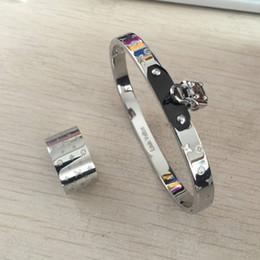 2019 desenhos de pulseiras de prata Homens de luxo mulheres 316 L de aço Inoxidável anéis de designer de moda pulseiras conjuntos de jóias Design amante anéis de casamento pulseiras de prata de Ouro rosa desenhos de pulseiras de prata barato