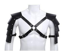 d43c765465c4 Men Armor Shoulder Three-dimensional Body Corset Straps Shoulder Armor  Performance Stage GOGO Clothes Dance Costume Rave Outfit