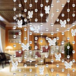 cortinas de cristal para sala de estar Desconto Top qualidade 1 M Modern Crystal Glass Waterdrop Cortina Cortina Da Janela Moderna Sala de estar Decoração Do Casamento