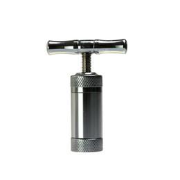 Imprensa do tabaco moedor on-line-Liga de Aço Inoxidável / Zinco Compressor de Pólen de Compressor de Erva Pistola de Tabaco Prensa Triturador de Tabaco Trituradora de Tabaco para Bong Shisha