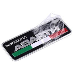 3D 3M voiture Abarth aluminium adhésif Badge Emblème logo Decal Sticker Scorpion Pour Tous Fiat Abarth Punto 124 125 500 Car Styling ? partir de fabricateur