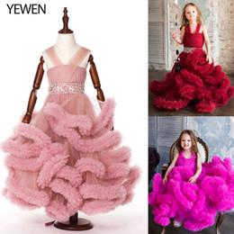 Bebés imágenes de flores online-Nube muchachas de flor pequeña vestidos para bodas partido del bebé de los vestidos de los niños imágenes atractivas de los niños vestido de baile vestidos vestidos de noche 8007