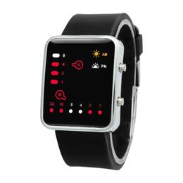 AABB-Unisex Silicone Sport Watch Rojo LED Digital Binary Wrist Sport Color del artículo: negro desde fabricantes