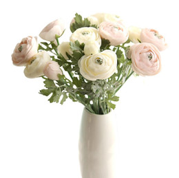 bouquet vase Coupons - home decoration flower desktop decoration vase flower arrangement Festive Party Supplies Decorative Flowers artificial flower wedding