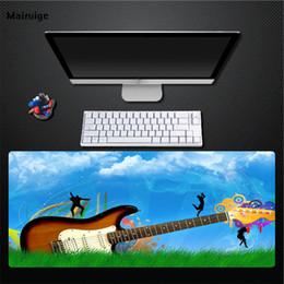 guitare en caoutchouc Promotion Tapis de souris d'impression de mélomanes d'impression de Mairuige, grand épais 400X900 Tapis de table en caoutchouc naturel durable grand tapis de souris