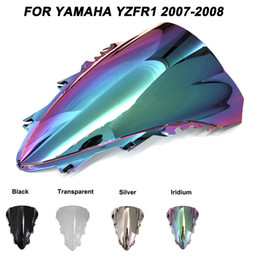 parabrezza r1 Sconti Vetri del parabrezza del parabrezza del motociclo bulloni accessori per Yamaha YZF-R1 YZF R1 2007 deflettori del vento di Iridium 2008