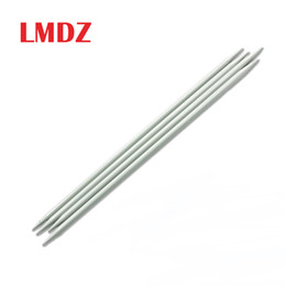 Остроконечный свитер онлайн-LMDZ 4PCS 20cm Long Knitting Needles Aluminum Straight Double Pointed Sweater Crochet Knitting Needle 2.0mm-6.0mm Tool