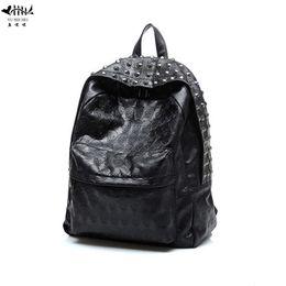 8647f09db62f Vintage PU Leather Backpack Women Bags Women Handbag Punk Skull Rivet  Backpacks Bag Punk Cool Girl Travel Backpacks Gift Bags