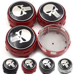 ford chrom-logo Rabatt Gzhengtong 4 teile / los Auto Styling 75 MM ABS Autoplanen Aufkleber Auto Radmitte Kappen Rad Abzeichen Für Mercedes Serie Punisher Logo