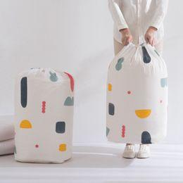 2019 pacotes de flores Roupa dobráveis Blanket Quilt armazenamento saco flor geometria camisola Printing Organizador grande capacidade Bundle bolso Bolsas ZZA1199 pacotes de flores barato