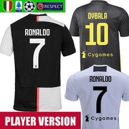 b90505df93556 maillot de joueur de football Promotion Player version juventus 19 20  RONALDO DYBALA BERNARDESCHI soccer jerseys