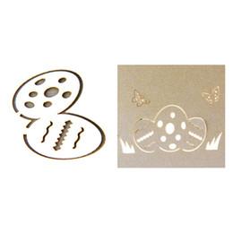 2019 oeufs de papillon Carte de voeux sculptée 3D en papier découpé à la main de Pâques avec œufs de papillon SLC88 promotion oeufs de papillon