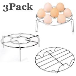 modems lte 4g desbloqueados Desconto Aço inoxidável que cozinha o rack tripé Egg cremalheira vapor cesto de refrigeração suporte Suporte para panela de pressão instantânea Pot Kitchen Tools