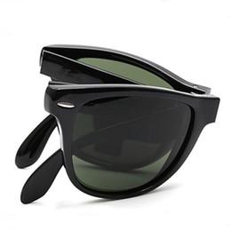 2019 faltende sonnenbrille polarisiert New Vintage 4105 Folding Sonnenbrillen Marke Designer Sonnenbrillen für Mann Frau UV400 Polarisierte Linsen 50mm mit Klappetui Box rabatt faltende sonnenbrille polarisiert