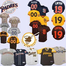 Camisetas de tony gwynn online-Hombres San Diego Tony Gwynn Custom Jersey Padres Adrián González Dave Winfield Trevor Hoffman Rickey Henderson Randy Jones Fernando Valenzuela