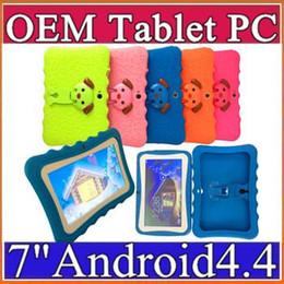 """tablet china rom Desconto Marca crianças Tablet PC 7 """"Quad Core Crianças Tablet Android 4.4 Allwinner A33 Google Jogador Wifi Grande Speaker Capa Protetora L-7PB"""