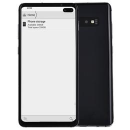 """telefone tri sim Desconto 4G LTE Goophone S10 + V5 Clone Rosto ID Impressão Digital Android 9.0 6.4 """"Punch-hole Toda a Tela Octa Núcleo 16MP Câmera Dual Nano Sim Card Smartphone"""