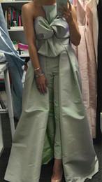 grünes gesamtkleid Rabatt 2019 neue sexy overall grün abendkleider bogen hals satin saudi-arabien vestidos de festa party dress prom formale festzug promi
