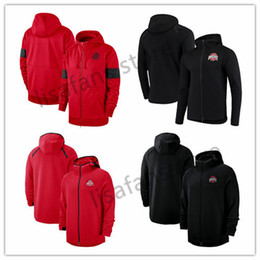 sweats des collèges Promotion Ohio State Buckeyes Sweatshirts 2018-2019 Player de basket-ball sur le tribunal ShowTime Sideline Performance Performance Full-Zip Hoodie Homme Sports College Sweat à capuche